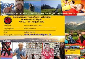 Kampfkunst Lehrgang Oberstdorf - Kampfkunst Seminar 2012